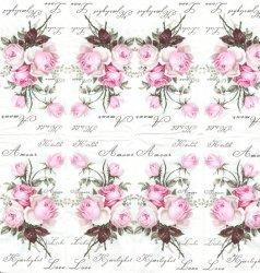 1枚 アンティークなピンクの薔薇 21.5cm角 ポケットペーパーハンカチ 紙ハンカチ SAGEN VINTAGE DESIGN