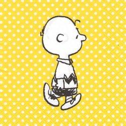 スヌーピー*チャーリーブラウン*黄色のドット/33cm/ペーパーナプキン 紙ナプキン/バラ売り/デコパージュ