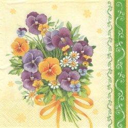 Bouquet of Violets 菫のブーケ すみれ バイオレット 1枚 バラ売り 33cm ペーパーナプキン デコパージュ Maki
