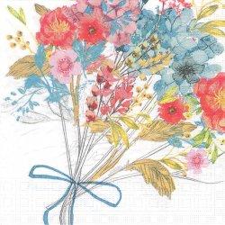 Louise Bouquet ルイーズの花束 Louise Tiller 1枚 バラ売り 33cm ペーパーナプキン デコパージュ ppd