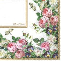 Royal Flowers-Blumenstuck ロイヤル・フラワー 1枚 バラ売り 33cm ペーパーナプキン デコパージュ HOME FASHION