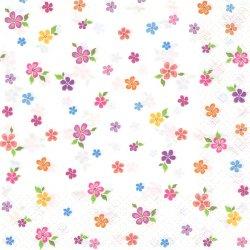 Small Colourful Flowers 小さなカラフルフラワーズ 1枚 バラ売り 33cm ペーパーナプキン デコパージュ Daisy