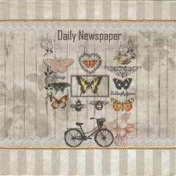 Daily Newspaper デイリーニュースペーパー コラージュ柄 1枚 バラ売り 33cm ペーパーナプキン デコパージュ Nouveau