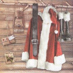 Santa's Wardrobe サンタの衣装 1枚 バラ売り 33cm ペーパーナプキン デコパージュ HOME FASHION