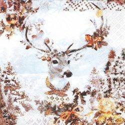 Dressed Deer ドレスッドディア 着飾った鹿 1枚 バラ売り 33cm ペーパーナプキン デコパージュ HOME FASHION