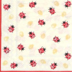 LADYBIRDS てんとう虫 レディバグ 1枚 バラ売り 33cm ペーパーナプキン 紙ナプキン デコパージュ Ambiente