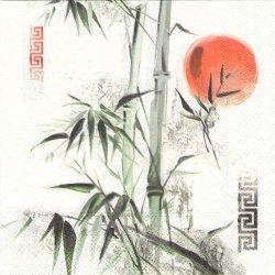 廃盤 ASIA 日の丸と竹 和柄 1枚 バラ売り 33cm ペーパーナプキン 紙ナプキン デコパージュ Ambiente