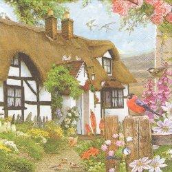 廃盤 Bauernhaus イギリスの田舎の家 1枚 バラ売り 33cm ペーパーナプキン 紙ナプキン デコパージュ Maki