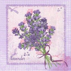 廃盤 Bunch of Lavender ラベンダーの花束 ライラック 1枚 バラ売り 33cm ペーパーナプキン 紙ナプキン デコパージュ Maki