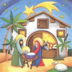 廃盤 イエスの生誕 牛と馬と羊 1枚 バラ売り 33cm ペーパーナプキン 紙ナプキン デコパージュ ti-flair
