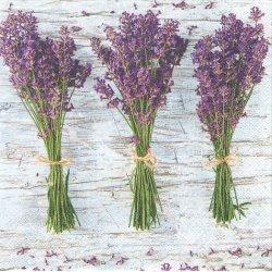 廃盤 Three Bunches of Lavender 写真 3つのラベンダーの花束 1枚 バラ売り 33cm ペーパーナプキン 紙ナプキン デコパージュ Daisy