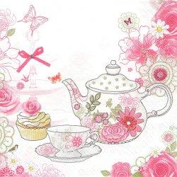 廃盤 Tea Time 花柄ティーセット 1枚 バラ売り 33cm ペーパーナプキン 紙ナプキン デコパージュ Daisy