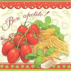 廃盤 バジルを使ったトマトパスタ 1枚 バラ売り 33cm ペーパーナプキン 紙ナプキン デコパージュ Daisy