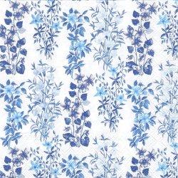 FIELD FLOWERS ブルーの花のガーランド 1枚 バラ売り 33cm ペーパーナプキン 紙ナプキン デコパージュ Ambiente