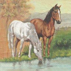廃盤 HORSES 水を飲む馬 1枚 バラ売り 33cm ペーパーナプキン 紙ナプキン デコパージュ Ambiente
