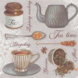 Tea Flavours お茶道具 1枚 バラ売り 33cm ペーパーナプキン 紙ナプキン デコパージュ Maki