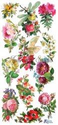昆虫と薔薇 ローズ 1シート ヴィクトリアン ステッカー シール ラッピング