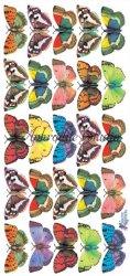25片のバタフライ 蝶 1シート ヴィクトリアン ステッカー シール ラッピング