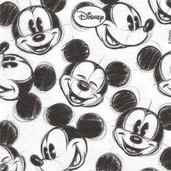 ディズニー ミッキーマウス アニメーションフェイス キャラクター 1枚 バラ売り 33cm ペーパーナプキン Disney