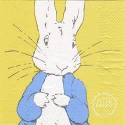 ピーターラビット 辛子色 キャラクター 1枚 バラ売り 33cm ペーパーナプキン 紙ナプキン デコパージュ PETER RABBIT Beatrix Potter