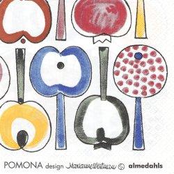 北欧 アルメダールス Pomona ポモナ フルーツ 1枚 バラ売り 33cm ペーパーナプキン almedahls