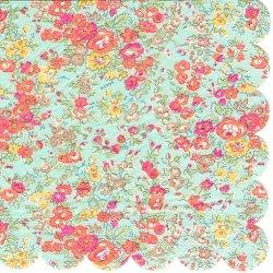 廃番 リバティ Tatum ターコイズ 小花柄 1枚 バラ売り 33cm ペーパーナプキン Meri Meri LIBERTY