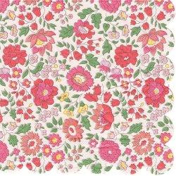 廃番 リバティ Danjyo ピンク 小花柄 1枚 バラ売り 33cm ペーパーナプキン Meri Meri LIBERTY