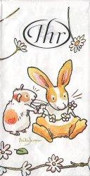 アニタ・ジェラーム ア・デイジー・チェーン  Anita Jeram 21.5cm角/ポケットペーパーハンカチ・紙ハンカチ/ミニペーパーナプキン