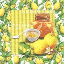 Lemon Jam レモンジャム 1枚 バラ売り 33cm ペーパーナプキン デコパージュ 紙ナプキン ti-flair