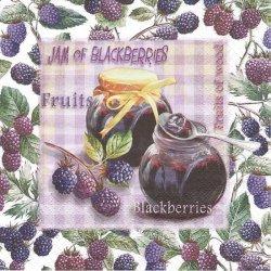 Jam of Blackberries ブラックベリージャム 1枚 バラ売り 33cm ペーパーナプキン デコパージュ 紙ナプキン ti-flair