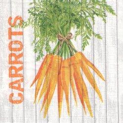 廃盤 Harvest Carrots ハーベストシリーズ キャロット にんじん 人参 Two Can Art 1枚 バラ売り 33cm ペーパーナプキン デコパージュ 紙ナプキン ppd