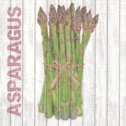 廃盤 Harvest Asparagus ハーベストシリーズ アスパラガス Two Can Art 1枚 バラ売り 33cm ペーパーナプキン デコパージュ 紙ナプキン ppd