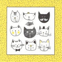 アニメキャット フレーム猫 1枚 バラ売り 33cm ペーパーナプキン デコパージュ 紙ナプキン Paw