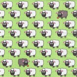廃盤 Flock of sheeps 羊の行列 フロック・オブ・シープ 1枚 バラ売り 33cm ペーパーナプキン デコパージュ 紙ナプキン Paper+Design