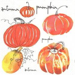 Watercolour Pumpkins 水彩のカボチャ パンプキン ハロウィン 1枚 バラ売り 33cm ペーパーナプキン Daisy