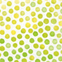 FANTASY GREEN/YELLOW ファンタジー アップルグリーン・イエロー 1枚 バラ売り 33cm ペーパーナプキン デコパージュ 紙ナプキン Ambiente