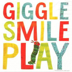 エリック・カール はらぺこあおむし GIGGLE SMILE PLAY ロゴ キャラクター 1枚 バラ売り 33cm ペーパーナプキン Eric Carl