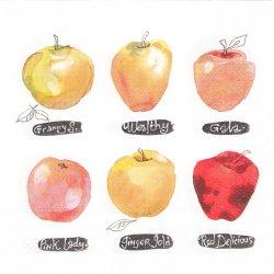 APPLES 水彩のりんご 林檎 アップル 1枚 ばら売り 33cm ペーパーナプキン デコパージュ 紙ナプキン Ihr