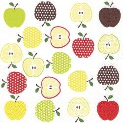 廃盤 並んだりんご 林檎 アップル 1枚 ばら売り 33cm ペーパーナプキン デコパージュ 紙ナプキン TETE a TETE