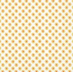 廃盤 CUTE PATTERN ホワイトイエロー キュート・パターン 小さなお花 1枚 ばら売り 33cm ペーパーナプキン デコパージュ 紙ナプキン Ihr