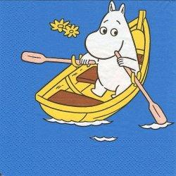 廃番 25cm 4面柄 ムーミン MOOMIN ボート 1枚  ペーパーナプキン バラ売り Bibo