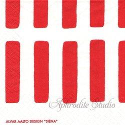 24cm アルテック SIENA シエナ 赤 artek 1枚 デコパージュ ペーパーナプキン バラ売り 北欧 フィンランド 紙ナプキン