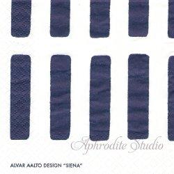 24cm アルテック SIENA シエナ 紺 artek 1枚 デコパージュ ペーパーナプキン バラ売り 北欧 フィンランド 紙ナプキン