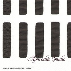 24cm アルテック SIENA シエナ 黒 artek 1枚 デコパージュ ペーパーナプキン バラ売り 北欧 フィンランド 紙ナプキン