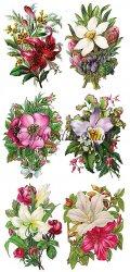 お花のシンプルなブーケ(1)のステッカー 1シート ヴィクトリアン シール ラベル ビクトリアン Victorian ラッピング