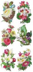 お花のシンプルなブーケ(2)のステッカー 1シート ヴィクトリアン シール ラベル ビクトリアン Victorian ラッピング