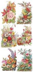 コーナー飾り お花のステッカー 1シート ヴィクトリアン シール ラベル ビクトリアン Victorian ラッピング