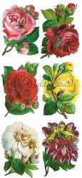 一輪薔薇のステッカー 1シート ヴィクトリアン シール ラベル ビクトリアン Victorian ラッピング