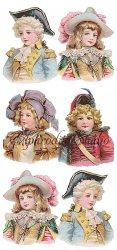 帽子をかぶった少年のステッカー エンジェル 1シート ヴィクトリアン シール ラベル ビクトリアン Victorian ラッピング