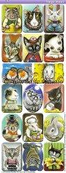 アーティストシリーズ 猫や動物のステッカー Tonya Bond 1シート ヴィクトリアン シール ラベル ビクトリアン Victorian ラッピング